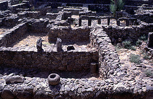One of the houses in Capernaum from Jesus' day