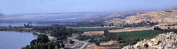 Eastern shore of the Sea of Galilee