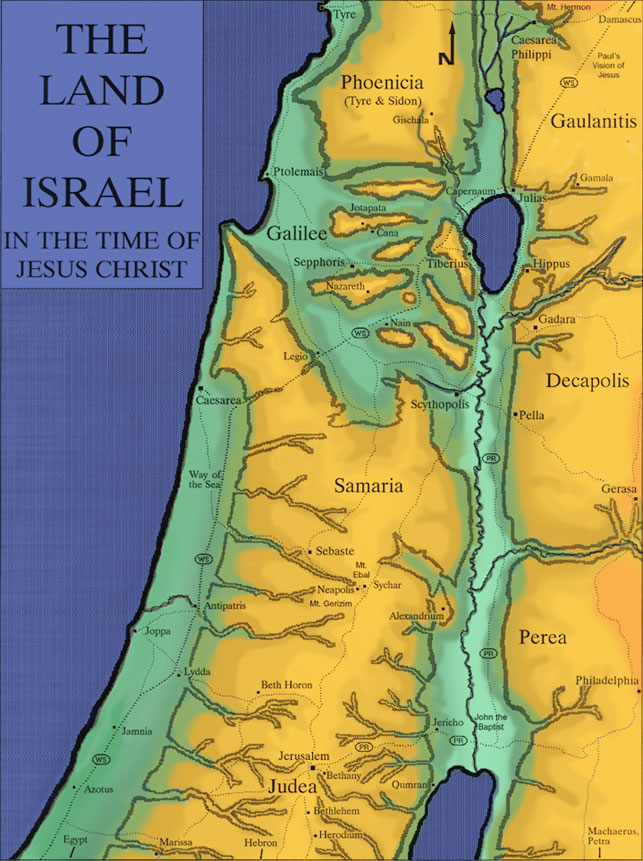 The Land of Israel in the Time of Jesus