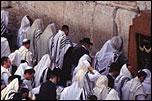 Jewish worshippers at the Western Wall
