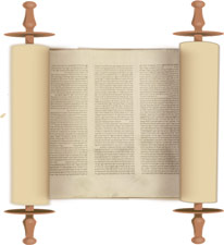 Open Bible scroll